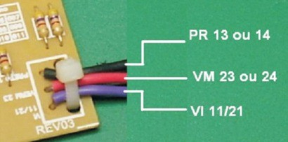 conexão da placa eletrônica