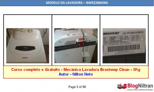 Curso Completo Mecânica lavadora Brastemp Clean de 5Kg