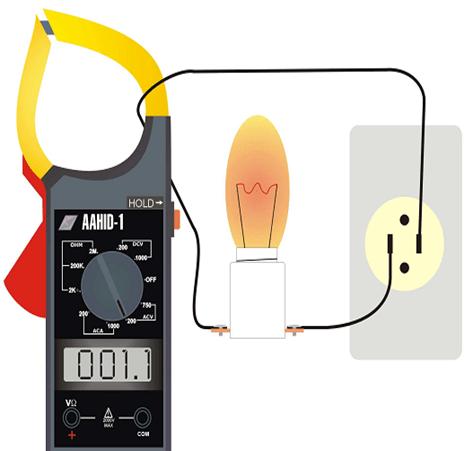 Leitura corrente com alicate amperímetro 2