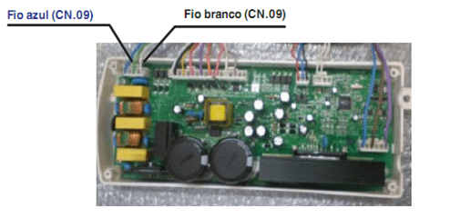 Teste de alimentação placa CN09