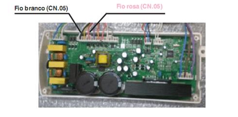 Teste de saída de tensão para o interruptor interno do atuador de acoplamento