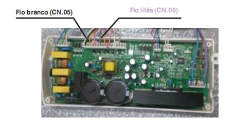 Teste de saída de tensão para o termoatuador do bloco porta