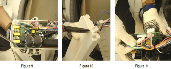 Soltar os conectores da placa