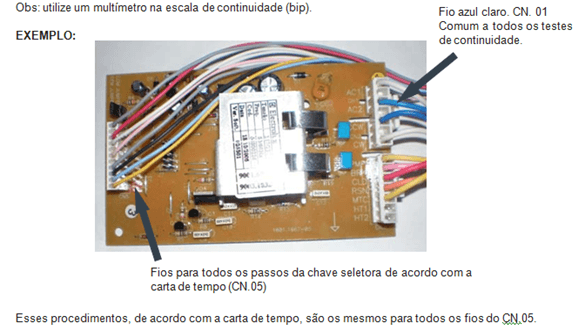 Cn 05 da placa eletrônica lavadora electrolux lt 50 e 60
