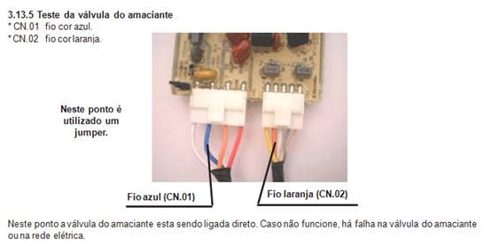 Teste da válvula do amaciante lavadora electrolux lt 60