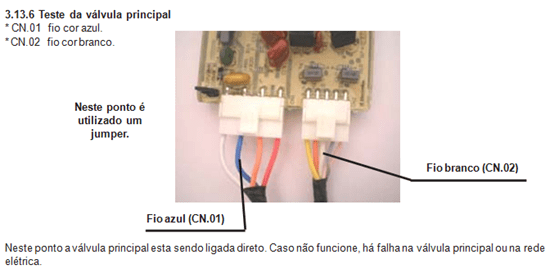 teste da valvula principal da lavadora electrolux lt 60