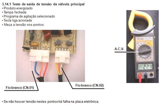 tetes de saída de tensão válvula pprincipal lavadora electrolux lt 60