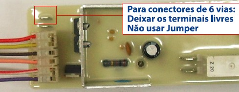 Ligação da Placa lavadora Brastemp bwq24a_conector 6 vias