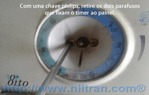 Retirada parafusos do painel electrolux le08